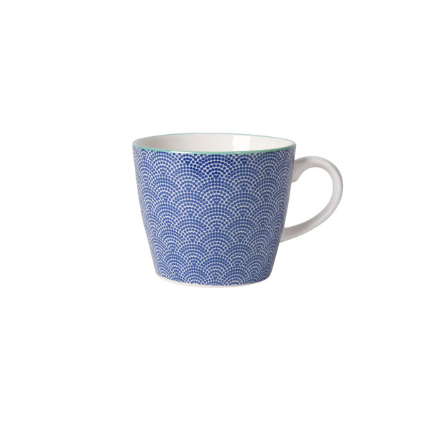 Blue Waves Stamped Mug