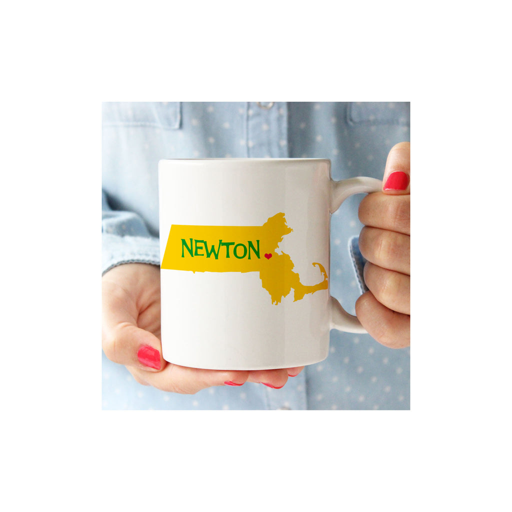 Newton Heart Massachusetts Mug
