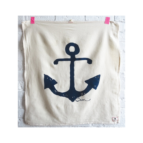 Erin Flett Tea Towel - Anchor