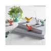 Citrus Colored Iron Mini Birds - on desk