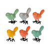 Citrus Colored Iron Mini Birds
