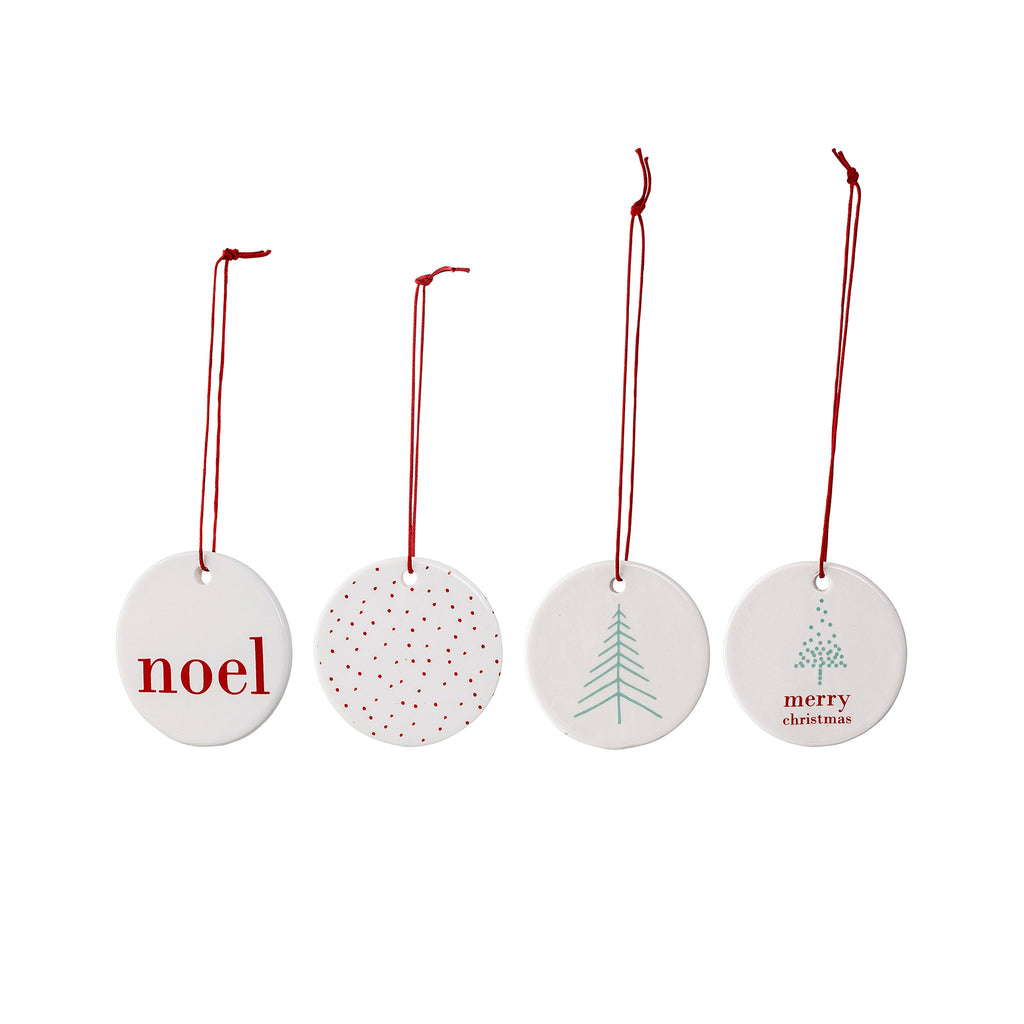 Retro Round Porcelain Ornaments