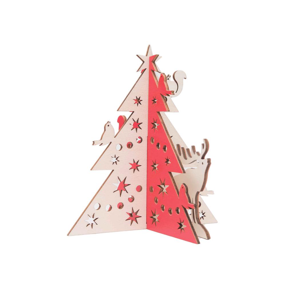 Laser-cut Tabletop Christmas Trees