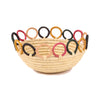 Mod Rainbow Hooped Raffia Catch All