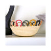 Mod Rainbow Hooped Raffia Catch All - on shelf