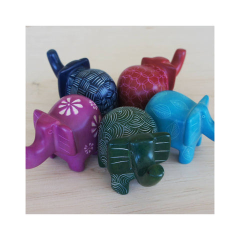 Mini Soapstone Jungle Animal - Elephant