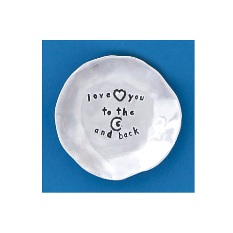 Pewter Charm Bowl - Love You to the Moon & Back