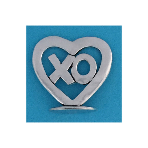 Tiny Standing Pewter Plaque - XO