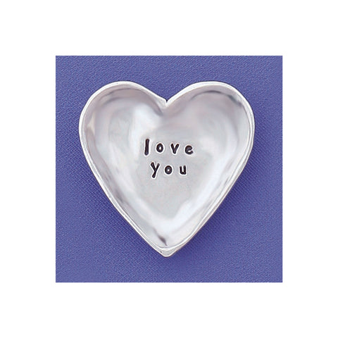 Small Pewter Charm Bowl - Love You