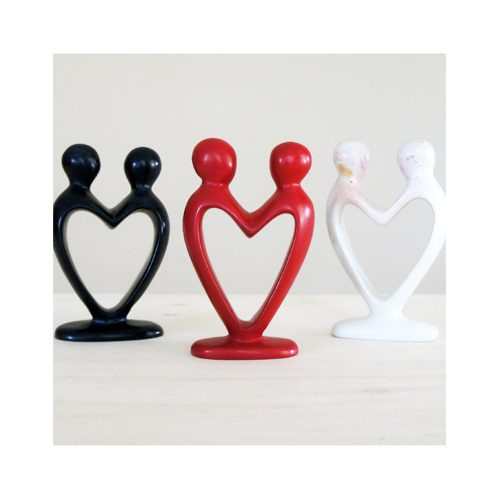 Soapstone Heart Couple - Red