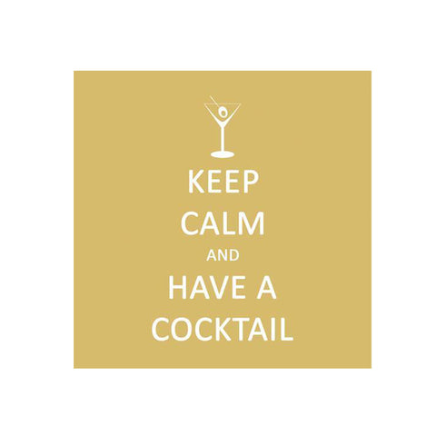 Keep Calm Cocktail Beverage Napkins