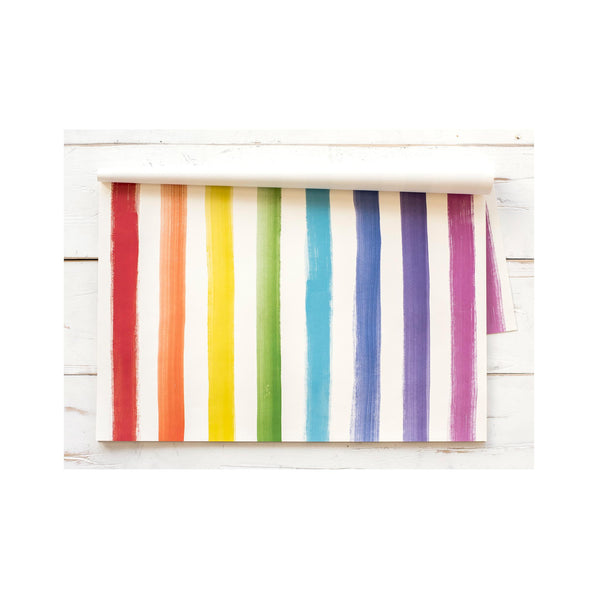 Paper Placemat Set - Painted Stripe