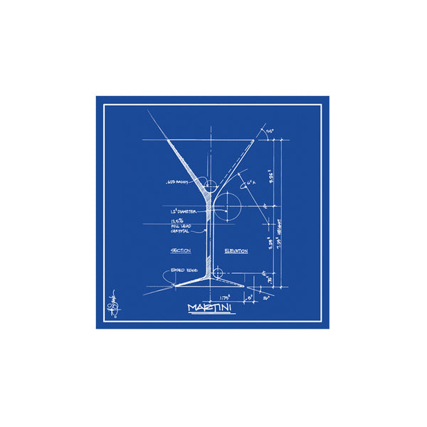 Barchitecture Martini Beverage Napkins