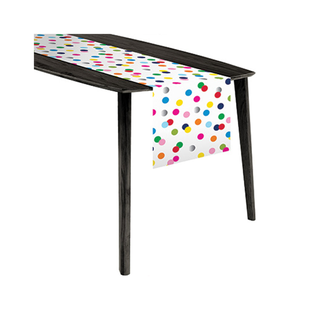 Birthday Dots Plastic Table Runner
