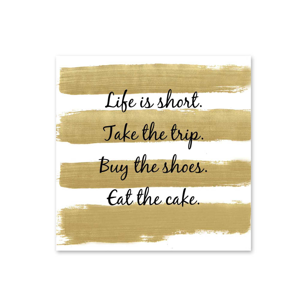 Life is Short Beverage Napkins