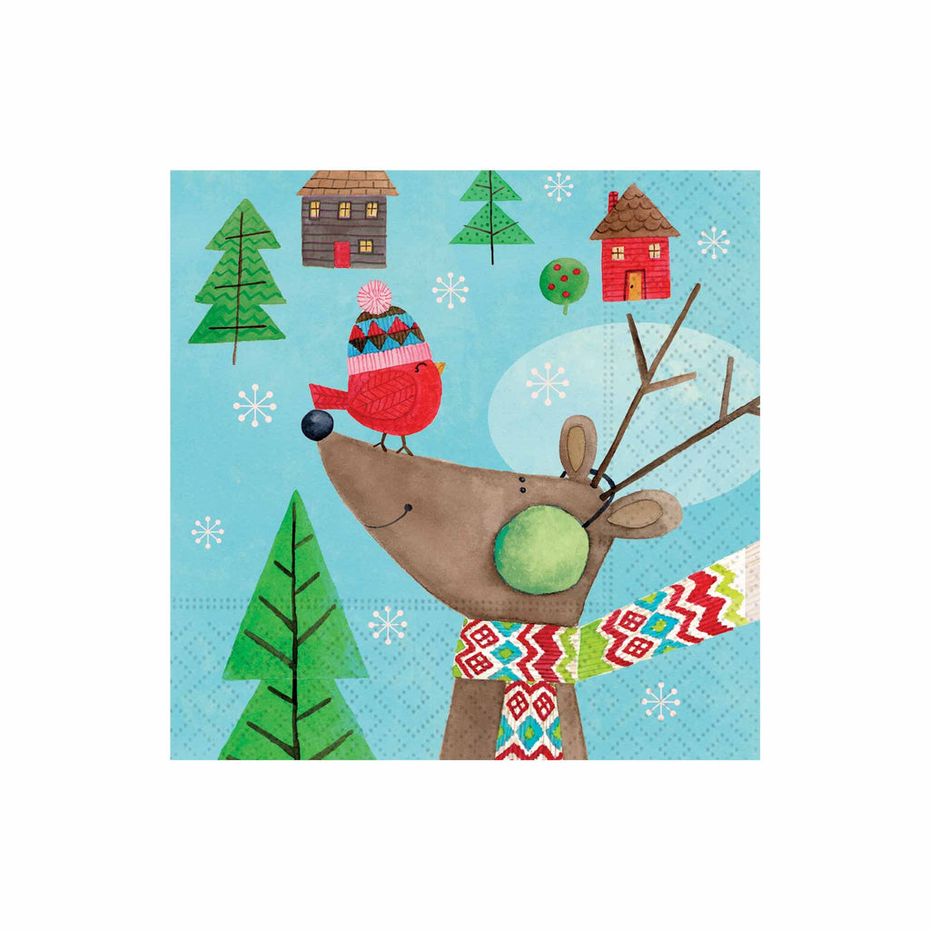 Cosy Christmas & Friends Beverage Napkins