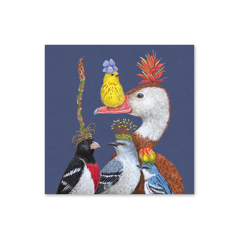 Vicki Sawyer Beverage Napkins - Willie the Warbler & Friends