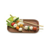 Bamboo Appetizer Picks Set in use