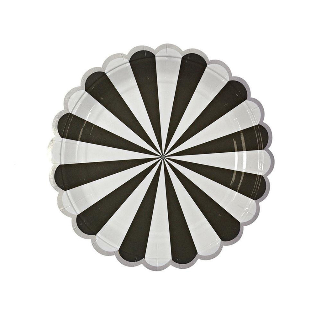 Black & White Striped Plate