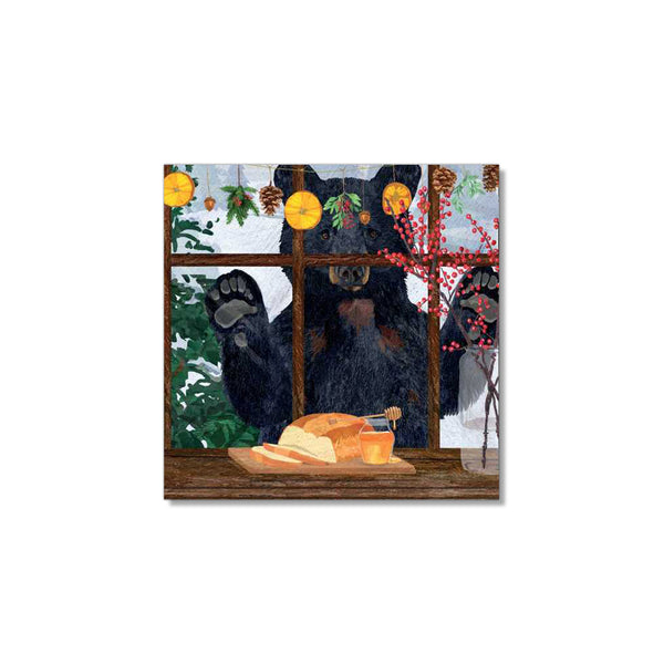 Hearth Time Beverage Napkins - Bear