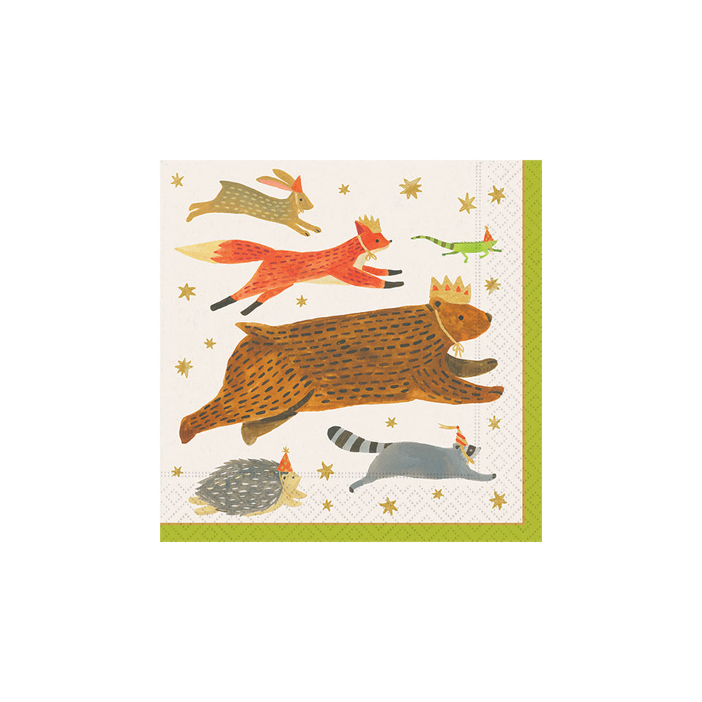 Enchanted Forest Friends Beverage Napkins