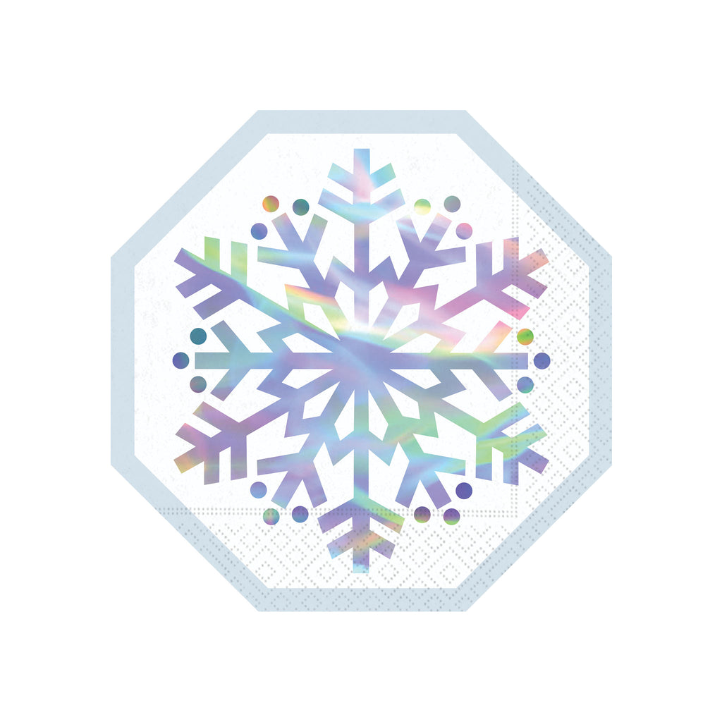 Brilliant Snowflake Luncheon Napkins