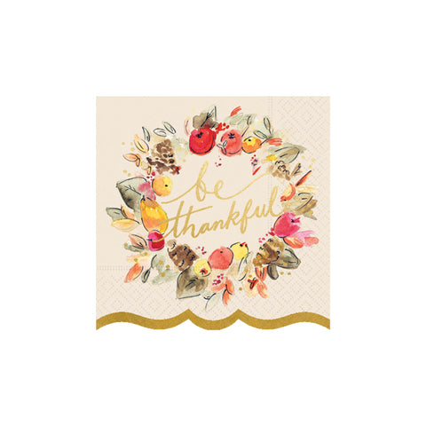 Be Thankful Beverage Napkins