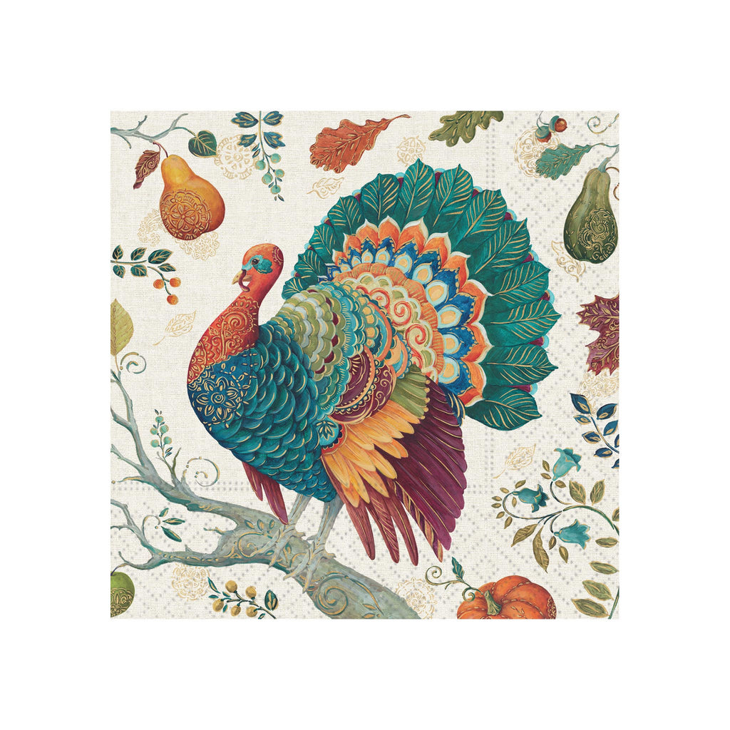 Bountiful Turkey Beverage Napkins