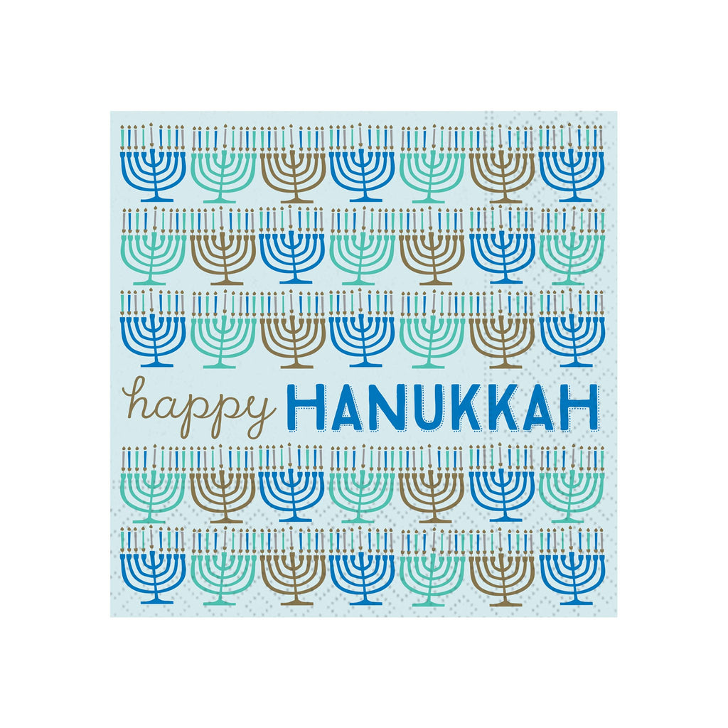 Happy Hanukkah Menorahs Beverage Napkins