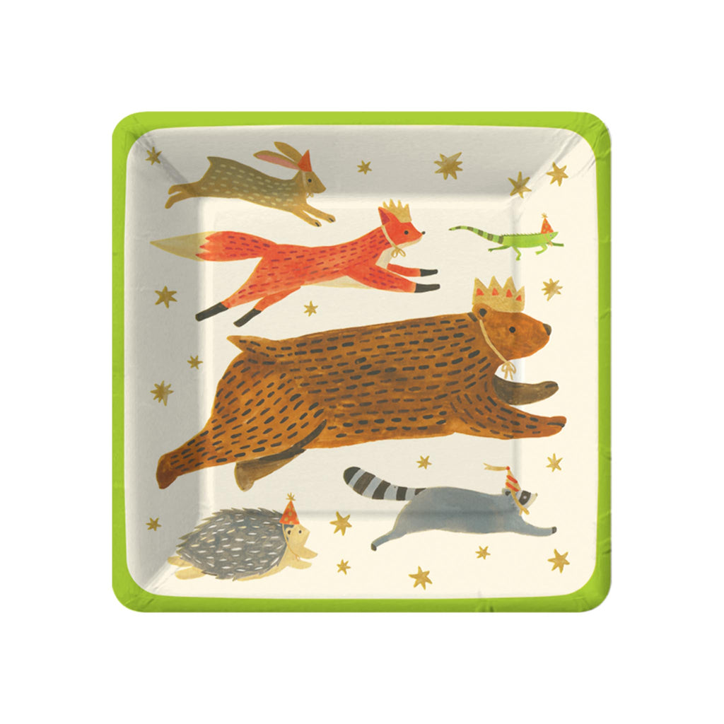 Enchanted Forest Friends Dessert Plates
