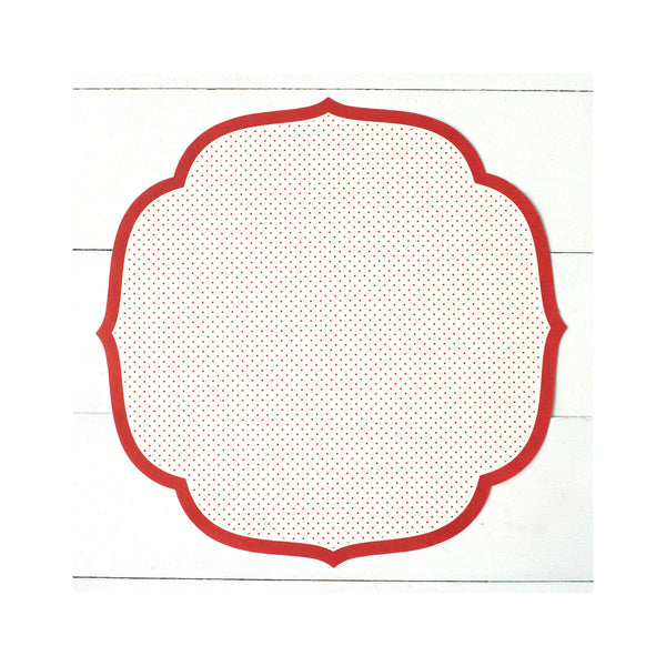 Die Cut Red Swiss Dot Paper Placemats