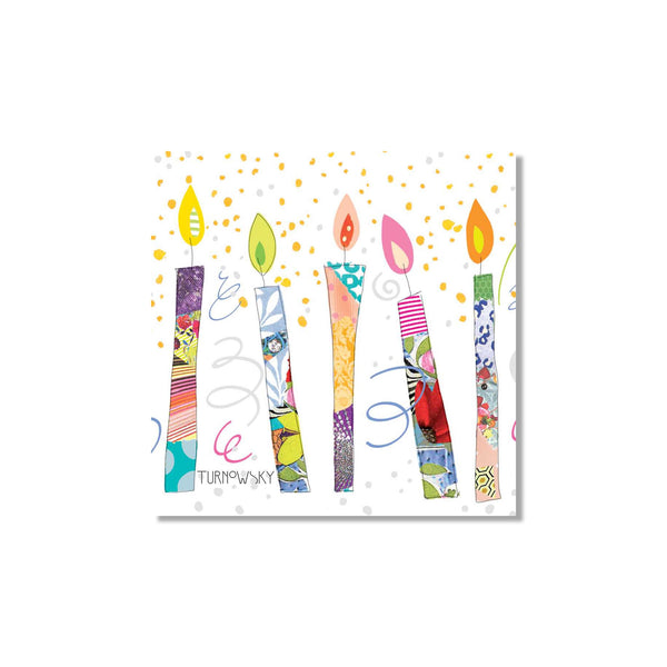 Birthday Candles Luncheon Napkins