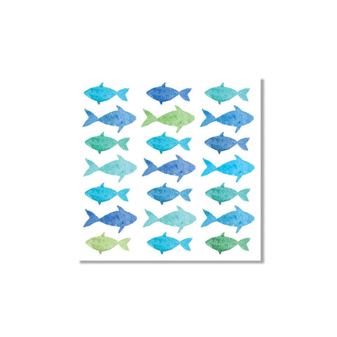 Aquarelle Fish Beverage Napkins