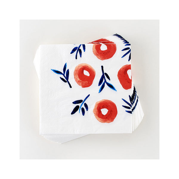 Poppy Luncheon Napkins