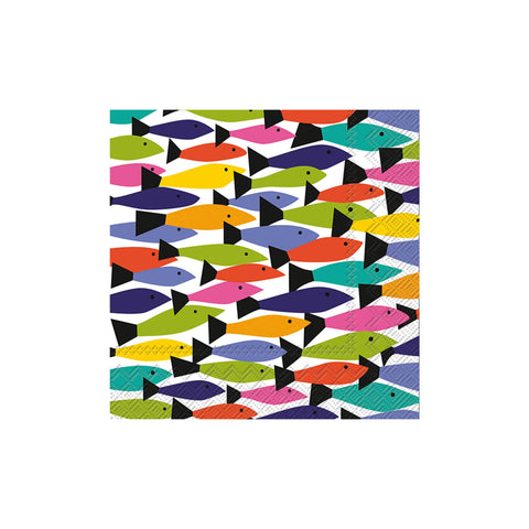 Kate Nelligan Rainbow Fish Beverage Napkins