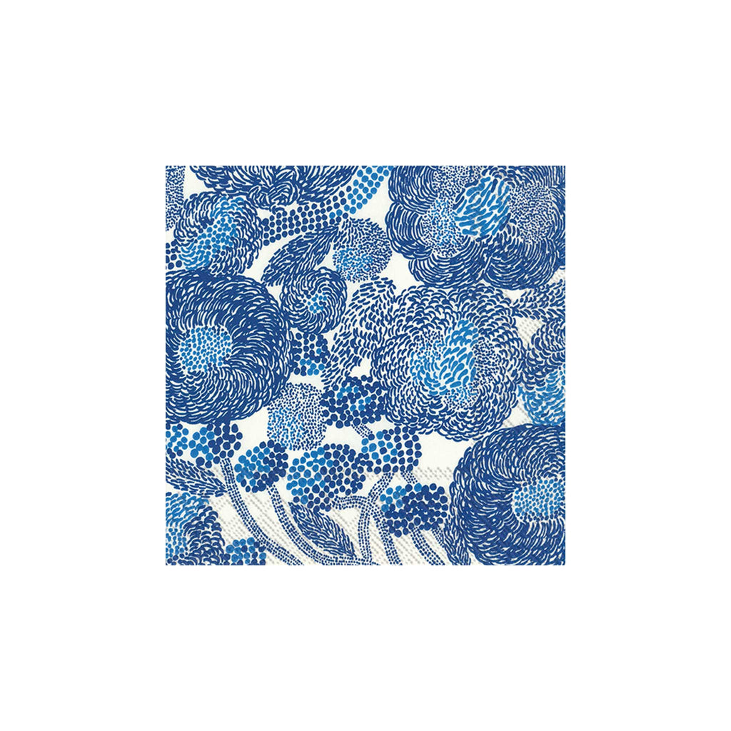 Marimekko Mynsteri Cream & Blue Luncheon Napkins