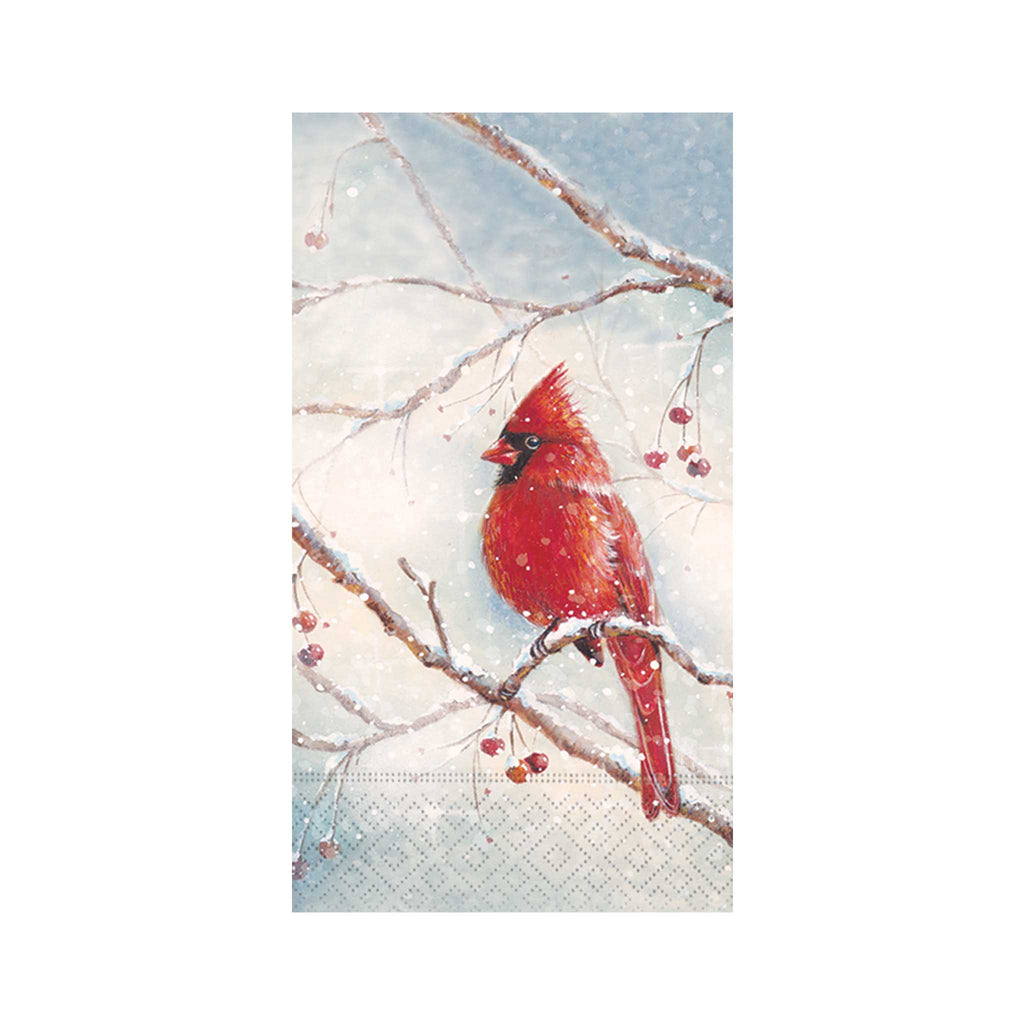 Winter Cardinal Guest Towels