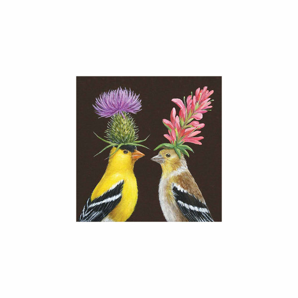 Goldfinch Couple Luncheon Napkins