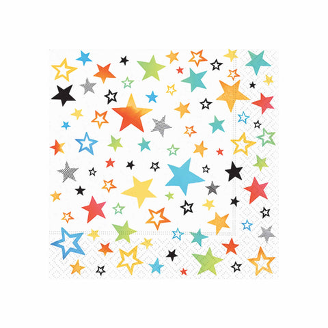 Rainbow Stars Luncheon Napkins