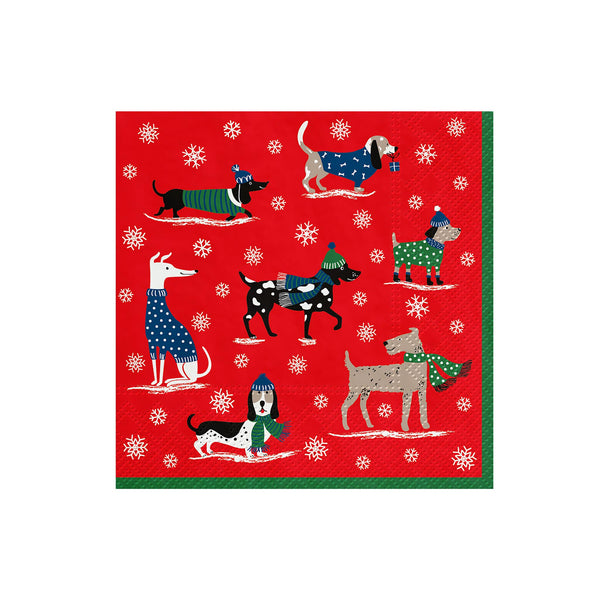 Winter Dogs Luncheon Napkins