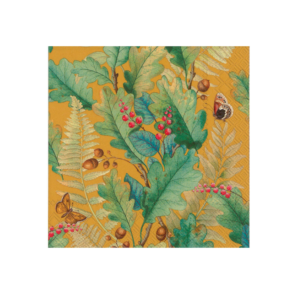 Oak Tree Ochre Luncheon Napkins