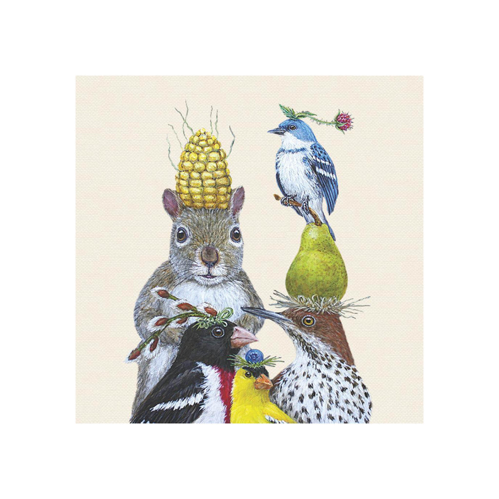 Vicki Sawyer Beverage Napkins - Party Under the Feeder