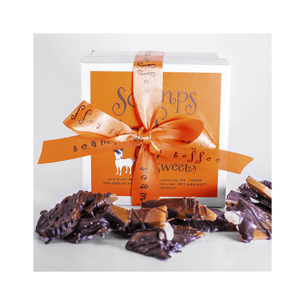 Scamps Toffee 4 oz Box - Dark Chocolate