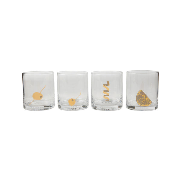 Garnish Rocks Glass Set of 4