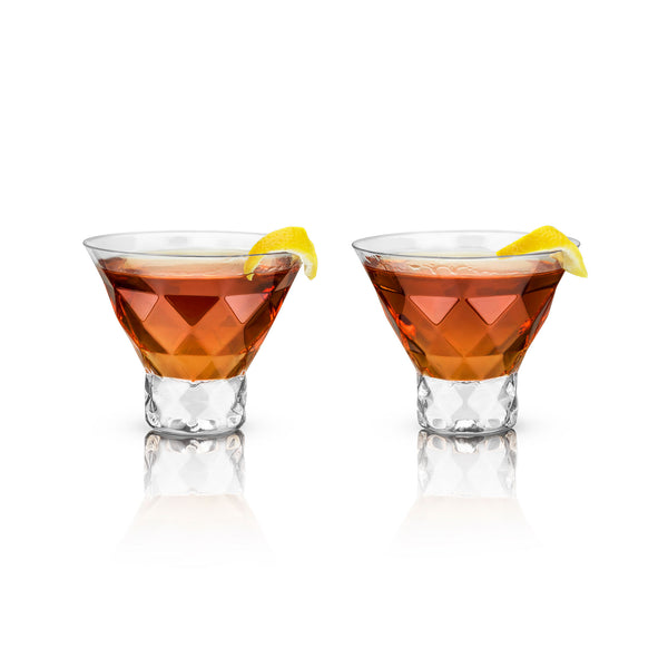 Gem Crystal Martini Glass Set of 2