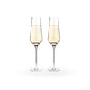 Raye Crystal Champagne Flutes Set of 2 with champagne