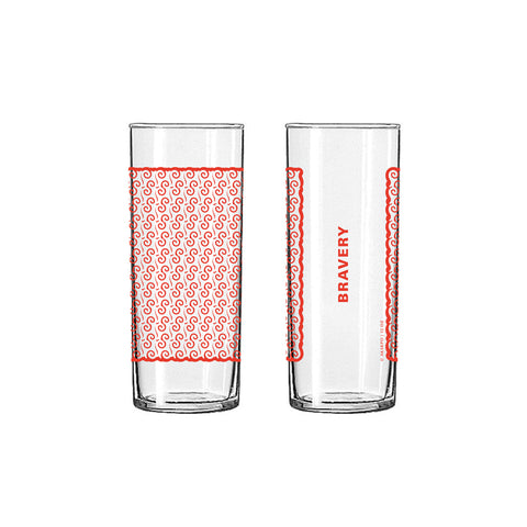 Andinkra Tall Skinny Glass - Bravery
