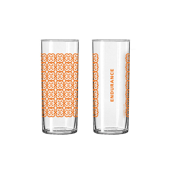 Andinkra Tall Skinny Glass - Endurance