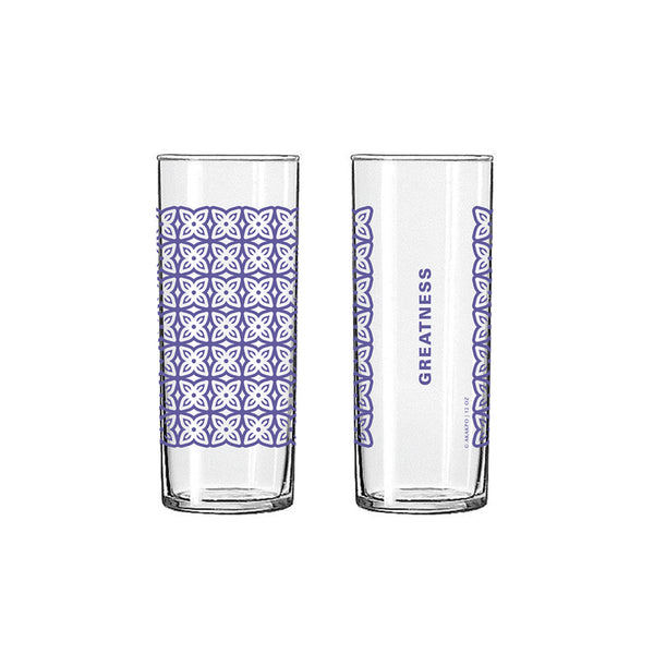 Andinkra Tall Skinny Glass - Greatness