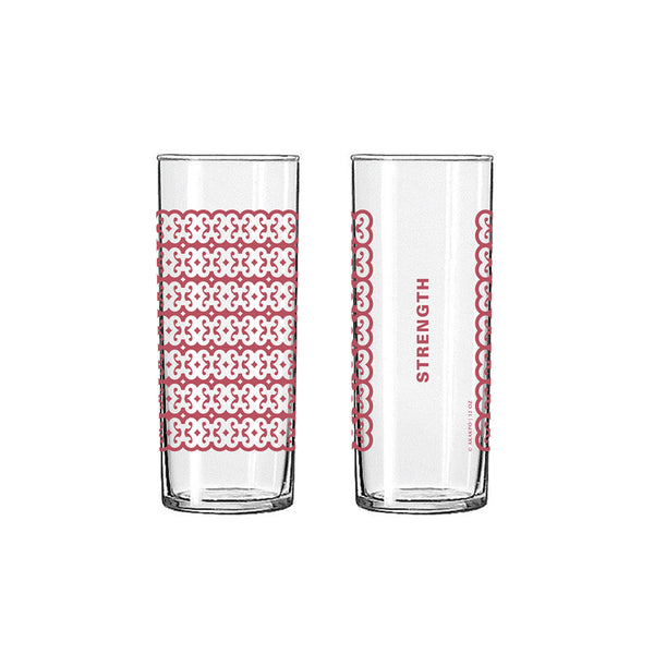 Andinkra Tall Skinny Glass - Strength